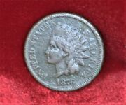 1876 Indian Head Penny Vg Condition