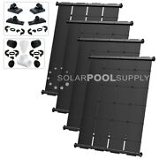 Solarpoolsupply Industrial Grade Diy Solar Pool Heater System 4 4and039x7.5and039 Panels