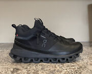 On Running Menandrsquos Cloud High Waterproof Sneakers All Black Size 11 M Us 200