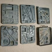 1965 Mattel Thingmaker Fighting Men Metal 6 Molds 4481 Army Weapons Accessories