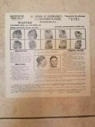 Clyde Barrow Wanted Poster 1933 Original Bonnie And Clyde