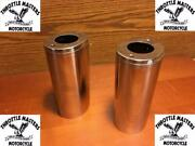 Front Fork Slider Covers, Fits Harley Hydra-glide Panhead 1949 To 1984 Flh