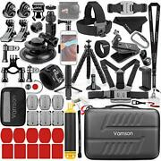 63-in-1 Accessories Kit For Gopro Hero 9 8 7 6 5 Black 4 3 Max Mount Tripod For