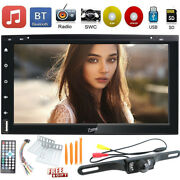 7 Double 2 Din Lcd Am Fm Bluetooth Radio Audio Car Stereo Dvd Cd Player Camera