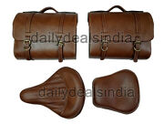 Royal Enfield 350cc 500cc Standard Bike Rear And Front Seats With Saddle Bags