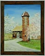 M.jane Doyle Signed Orig. Art Oil/canvas Painting The Siloarch./landscapefr.