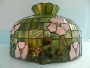 Vtgtiffany/ Or Stained/slag/favrile Glass, Floral Hanging Light Fixture Lamp