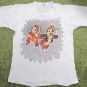 Vintage 90's Disney Chip And Dale Tee T Shirt One Size Fits All Made In Usa Rare
