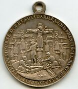 Papal States Pope Pius Ix Francescan Martyrs Silver Medal Pendant 32mm 13g