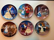 Walt Disney's Beauty And The Beast Knowles Collector Plates Set Of 6