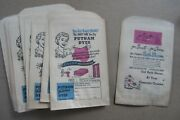 Wholesale Lot Of 25 Old Vintage 1940and039s - Putnam Dyes - Advertising Paper Bags