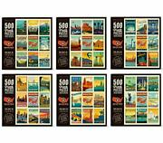 Americanflat 6 Pack Jigsaw Puzzle Set - 500 Piece 18 X24 - American Travel ...