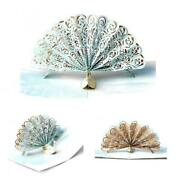 Peafowl Peacock Three-dimensional Cut-out Greeting Card Pop-up