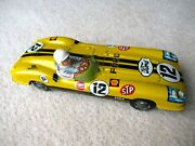 Reduced - Very Bright, Japan Tin Racing Car. 9. Ford. Yellow. Gt Condition