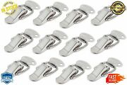 Stainless Steel Spring Loaded Toggle Case Box Chest Trunk Latch Hasps Clamps New