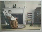 Vintage Hand Colored Photograph Puritan Maid Wight 5x7