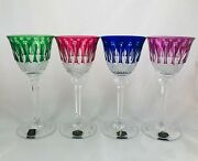 Vintage St Louis Glass Crystal Cut To Clear Tommy Wine Hock Stem W/paper Label
