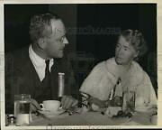 1941 Press Photo Mrs Dwight Morrow And Allen Dulles At Continental Congress Dinner