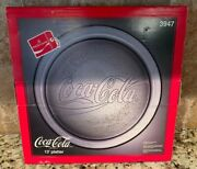 Vintage 1990 Collectible Coca Cola 13 Glass Platter Serving Tray 3947