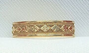 Antique 14k Solid Gold Band Baby Childand039s Ring Size 1.5