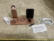 4 In 1 Wiress Fast Charger Stand For Apple Iphone Earphone Watch Chargering
