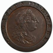 Great Britain 1797 2 Pence Pcgs Au55 — Bonkers Eye Appeal, Lincoln Continental