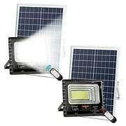2pack 200w Solar Flood Lights Outdoor,street And Area Lighting,dusk To Dawn