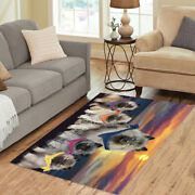 Family Sunset Keeshond Dogs Area Rug Indoor