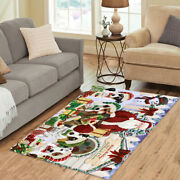 Christmas Dog House Jack Russell Dog Living Room Area Rug Indoor