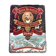 Jack Daniels 1904 Old Time Tennessee Whiskey Tin Box Vintage