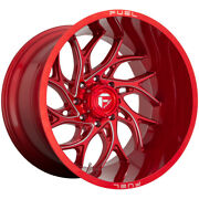 4-fuel D742 Runner 20x10 6x135 -18mm Red/milled Wheels Rims 20 Inch