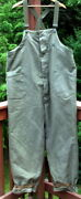 Vintage Wwii U.s. Military Navy Deck Overalls Pants Size - Xl