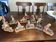 Tom Clark 13 Piece Lot Of Some Signed Gnome Train Set Retired
