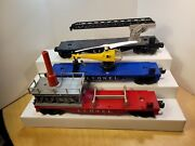 Lionel Space Series Cars Lot 3413 Launcher 3419 Helicopter 6512 Cherry Picker