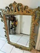 Local Pickup 40 Antique Regency Carved Mantel Wall Mirror Beveled Rococo French