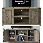 28 Tv Stand Wood Entertainment Center Storage 2 Barn Cabinets Rustic Farmhouse