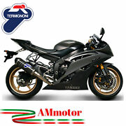 Full Exhaust System Termignoni Yamaha Yzf R6 2008 08 Motorcycle Relevance Carbon