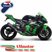 Full Exhaust System Termignoni Kawasaki Zx-10 R 2011 Silencer Relevance Carbon