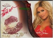 2010 Benchwarmer Ultimate Lip Kiss Auto Torrie Wilson 1/1 Of Red Autograph
