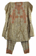 Hausa Boubou Outfit Handwoven Gold Nigeria African Art