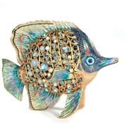 Jay Strongwater Weston Butterfly Fish Figurine Sdh1823-230