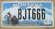 Montana 2016 Fort Peck Indiana Tribes Assiniboine And Sioux License Plate Bjt666