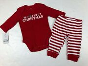Carters Baby My First Christmas Reindeer Two Piece Outfit Bodysuit Pants 3 M Nwt