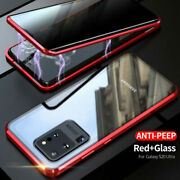 For Samsung Galaxy S20 Slim Fit Magnetic Alloy Frame Tempered Privacy Glass Case