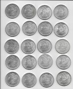 Us Morgan Silver Dollars 20 All Different P O S Mints  No 1921 Uncirculated