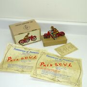 1987 Paya Ph Lbi Alicante Wind Up Tin Toy Motorcycle W/box And Coa, Made In Spain