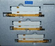 Kato 106-6115 N Scale Train Gunderson Maxi-iv Double Stack Ttx No. 2--weathered-