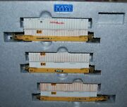 Kato 106-6116 N Scale Train Gunderson Maxi-iv Double Stack Ttx No.3--weathered-