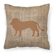 Carolineand039s Treasures Bb1009-bl-bn-pw1818 Lion Burlap And Brown Canvas Fabric