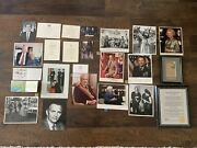 Lot Of Authentic Political Photos From Mary Masserini Estate - W/ World Leaders